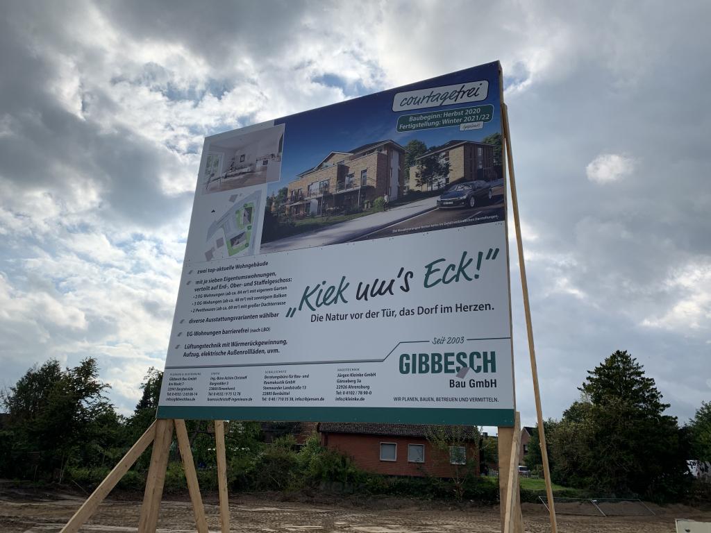 Kiek ums Eck - neues Bauvorhaben in Elmenhorst, Jersbeker Straße 1a und 1b