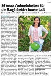Bauvorhaben To´n Schüttenhoff, Zeitungsartikel